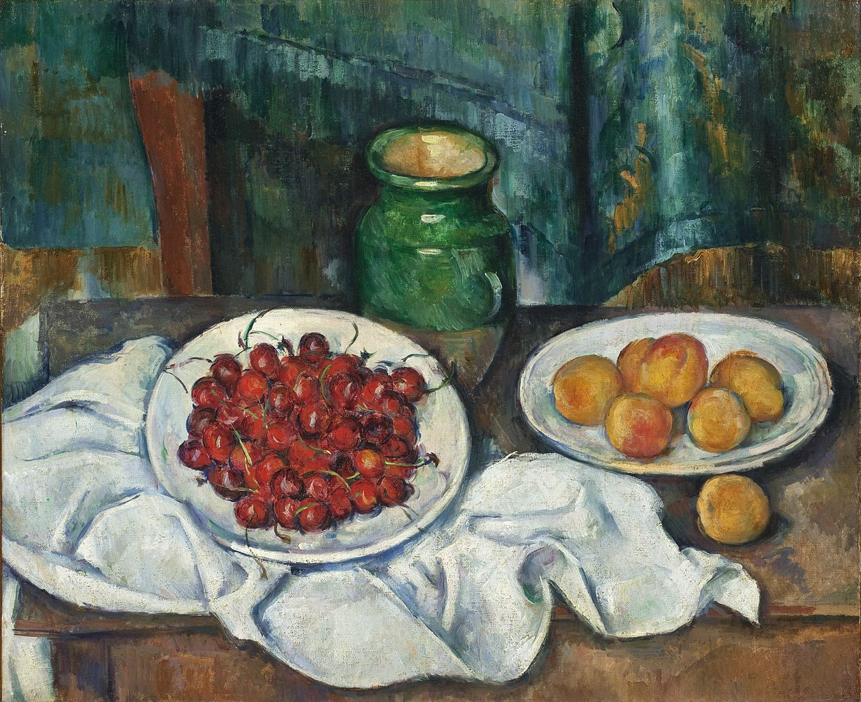 Paul Cezanne - Still Life with Cherries and Peaches, 1885-1887.