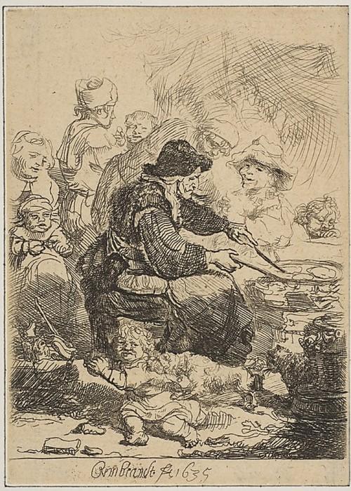 Rembrandt  - The Pancake Woman, 1635