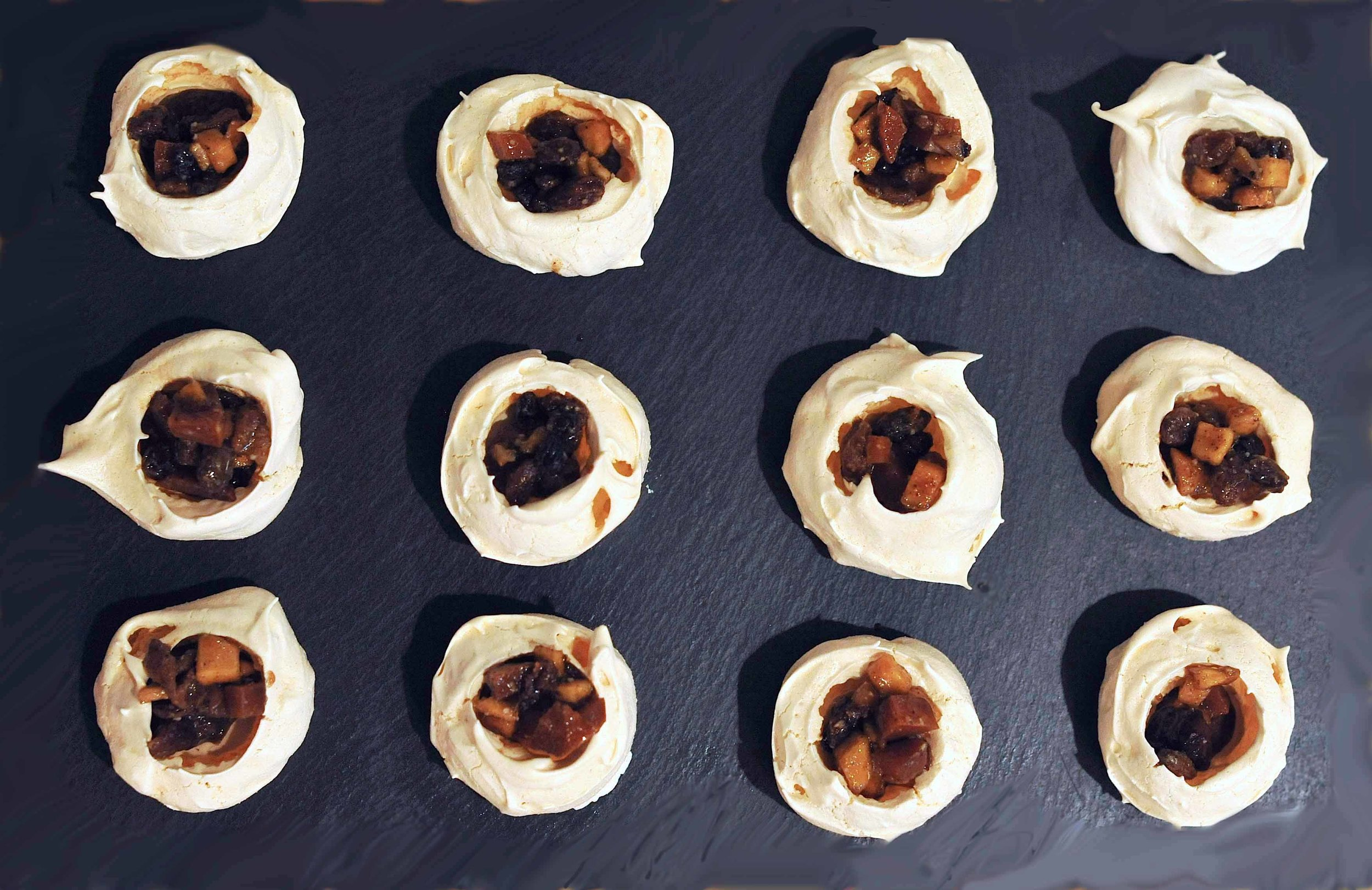 Smy Goodness Bite-size Mincemeat Meringue Nests from Smy Goodness Catering