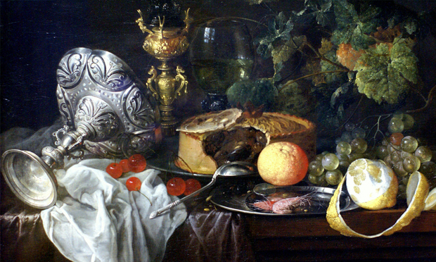 17th c. Dutch still life, artist unkown (photo credit from:  Hackney Citizen )