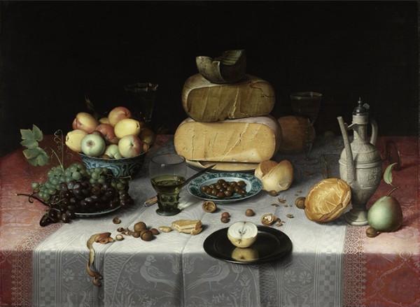Floris van Dyck (c. 1575–1651) Still Life with Cheeses, c. 1615