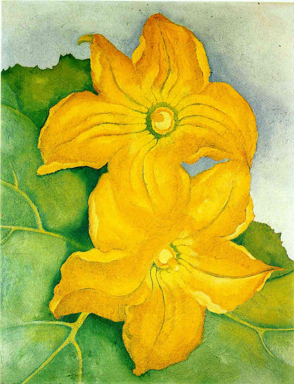 Squash Blossoms I, Georgia O'Keeffe, 1925.