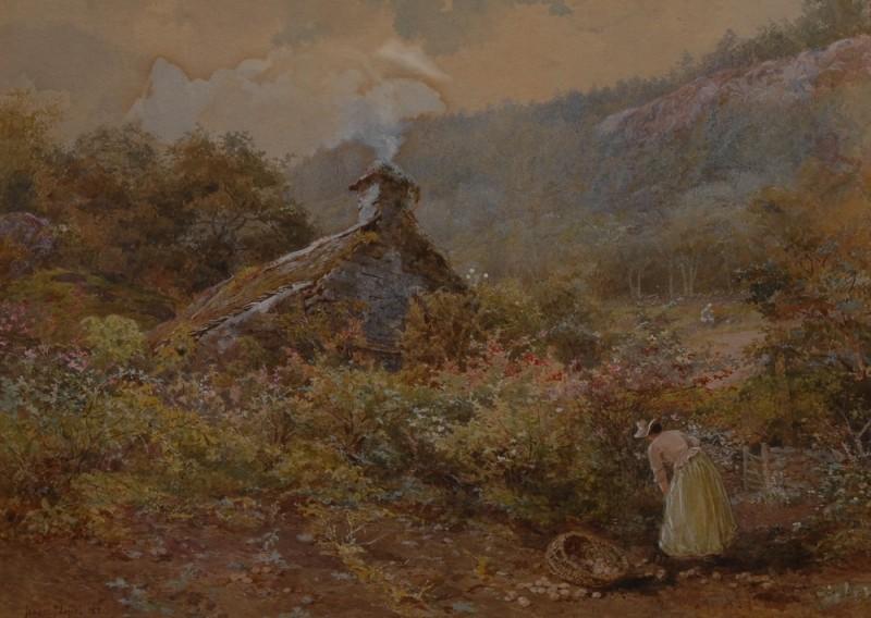 The Old Gooseberry Garden, 1882  Isabel Naftel