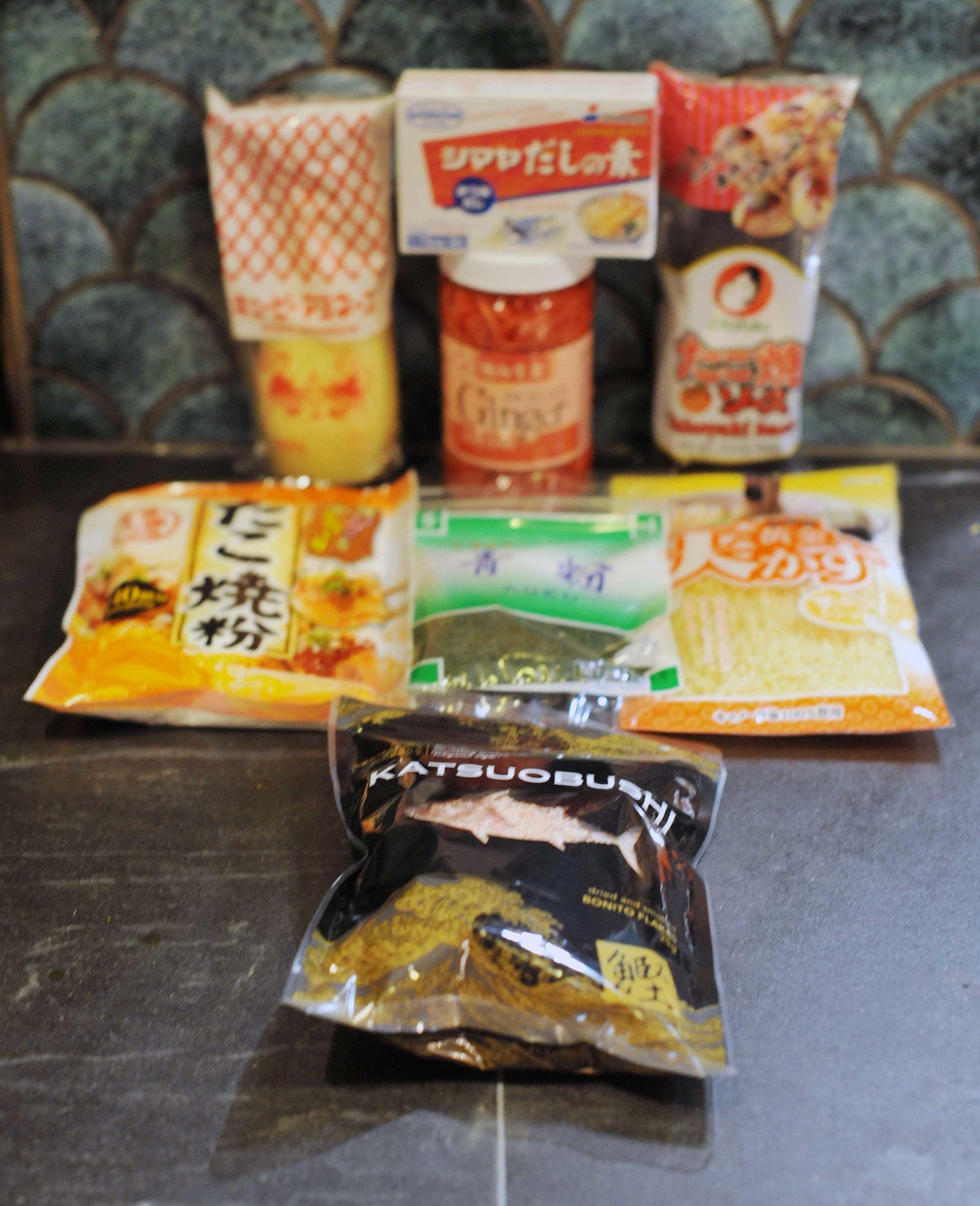 Takoyaki ingredients -  IG: Smy Goodness
