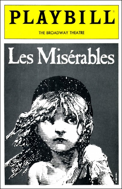 Les Misérables playbill based on Émile Bayard illustration