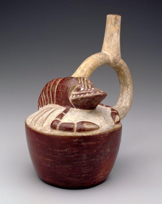 Moche Civilisation - Vessel with Lobster Motif, 400-499   (image: Arts MIA)