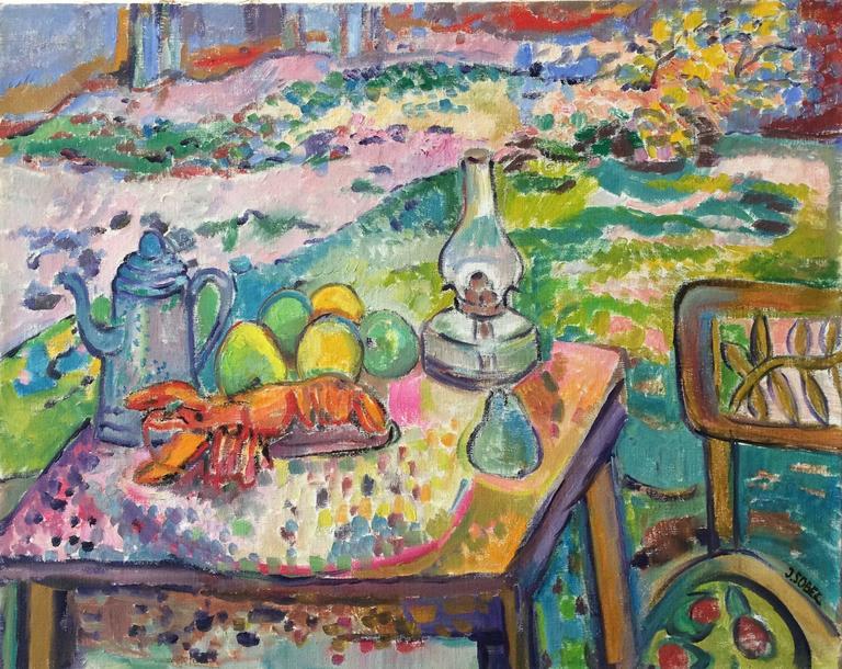 Jehudith Sobel - Still Life with Lobster - 1970  (image - 1stDibs)