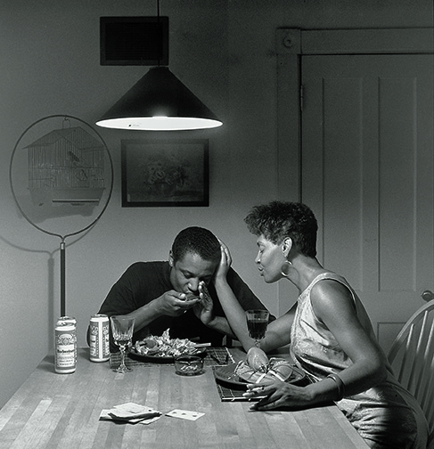 Carrie Mae Weems, Untitled (Eating Lobster), 1990, silver print. © Carrie Mae Weems. Courtesy of the artist and Jack Shainman Gallery, New York.  carriemaeweems.net  IG:  CarrieMaeWeems   jackshainman.com  IG:  JackShainman
