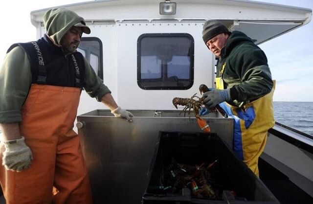 The Weeks brothers, Greg (left) and Kenny (right) Photos by Christine Hochkeppel from the  Cape Cod Times article 'Brothers embrace life as Cape lobstermen'  For more photography from Christine Hochkeppel check out her website  Salty Broad