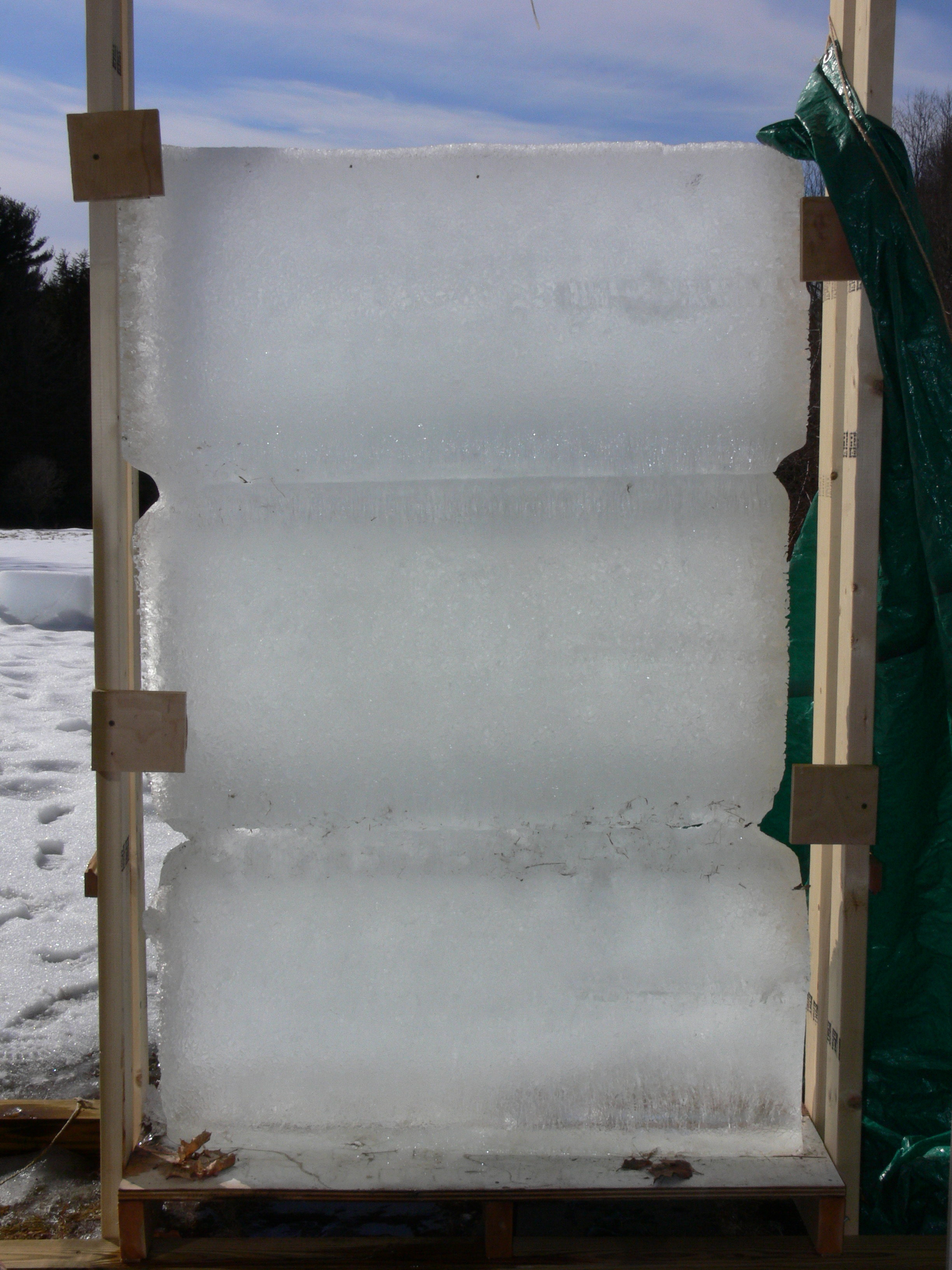 More experimenting with ice blocks