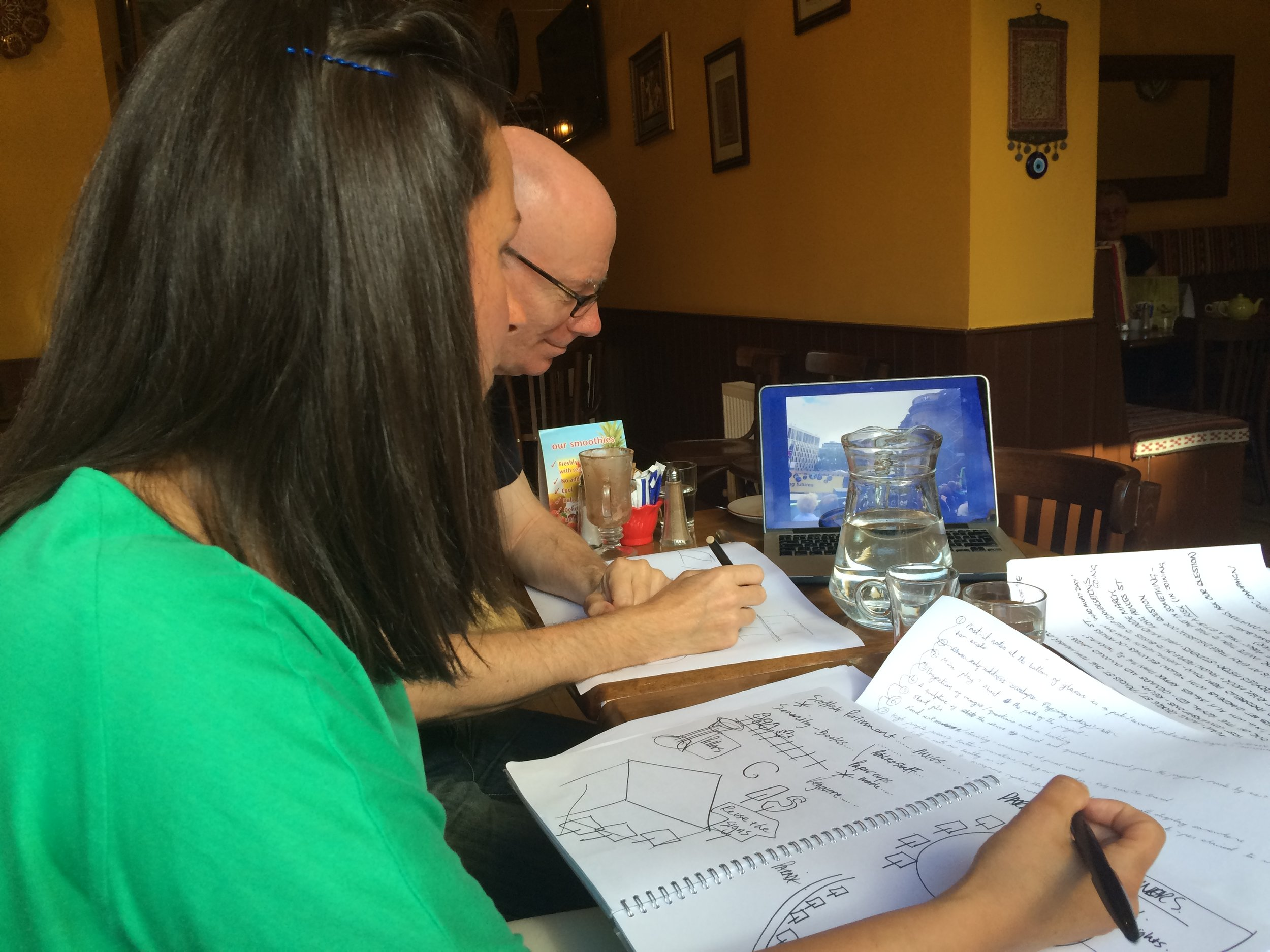 A Creative Team planning meeting
