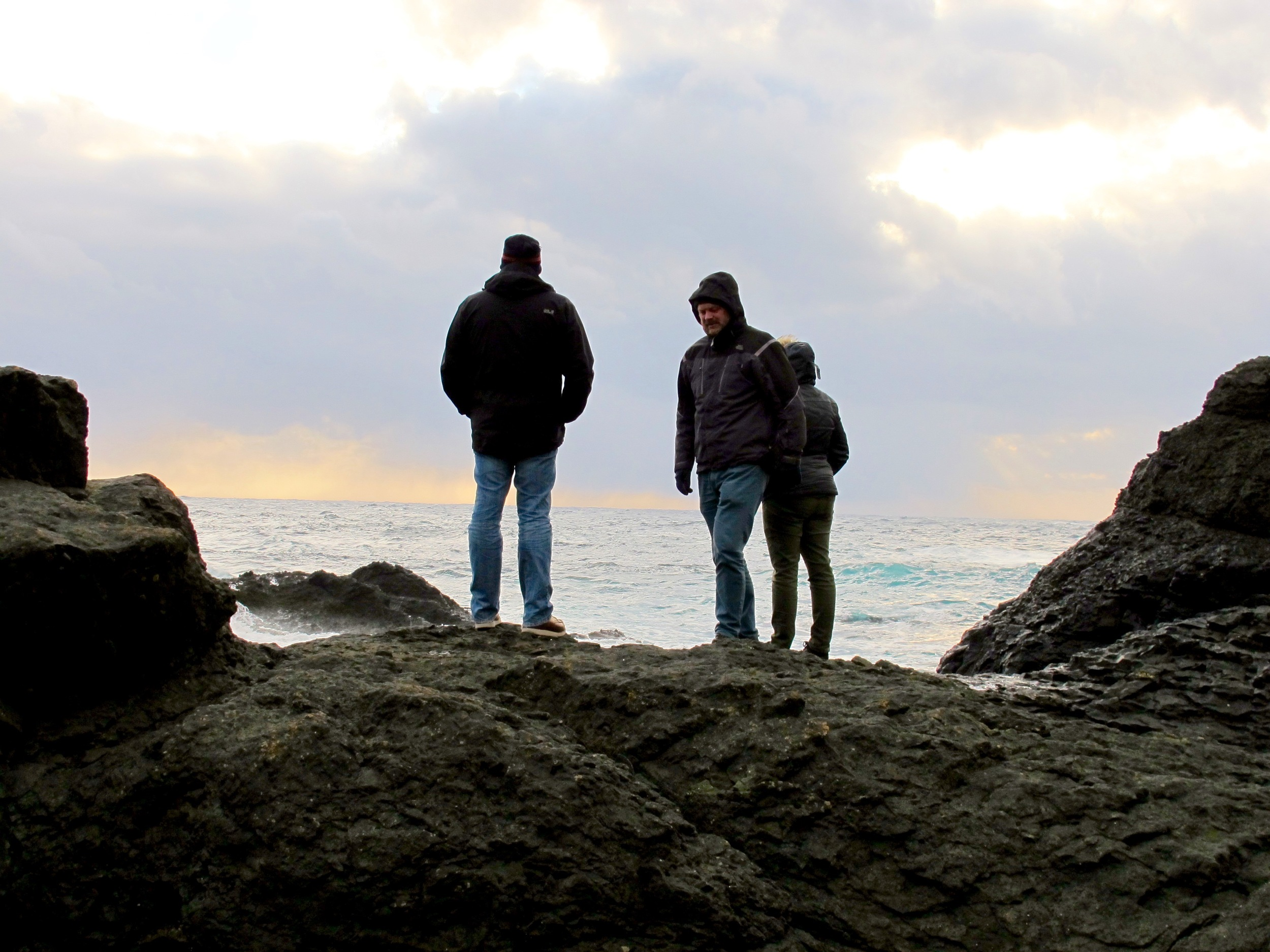 Rúni, Susanne and my husband Francesco on Suðuroy