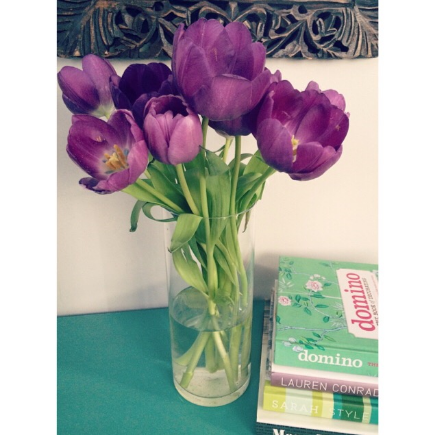 What says Spring better than  fresh tulips ?