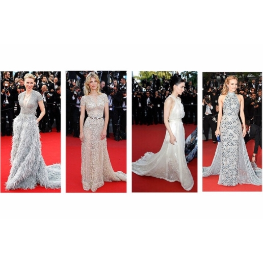 Have you been following the  Cannes Film Festival fashions ?