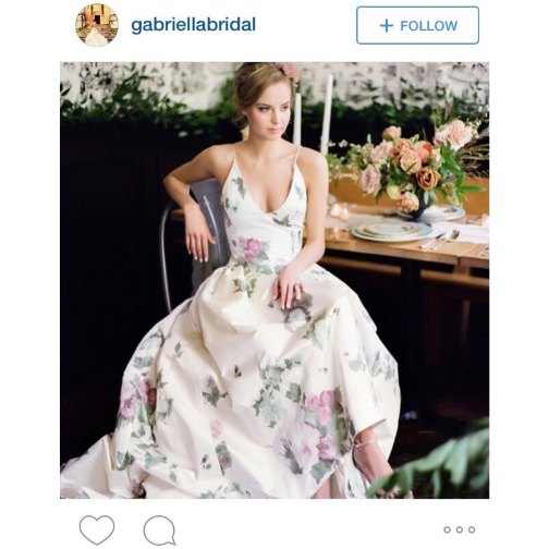 Absolutely in love with this floral gown, found  @gabriellabridal