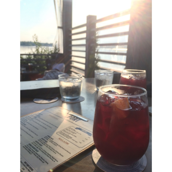 On  Instagram  - Sangria on the Port Patio.