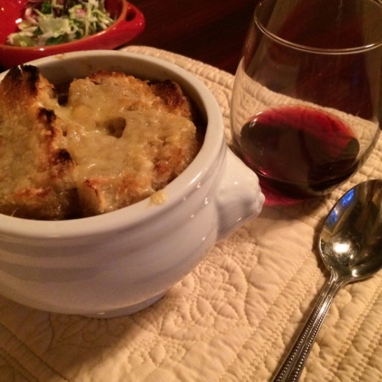 Made this  Barefoot Contessa  French Onion Soup recipe. Yummm.
