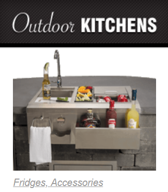 - Custom designed and built outdoor cabinetry, built-in grills & custom accessories.