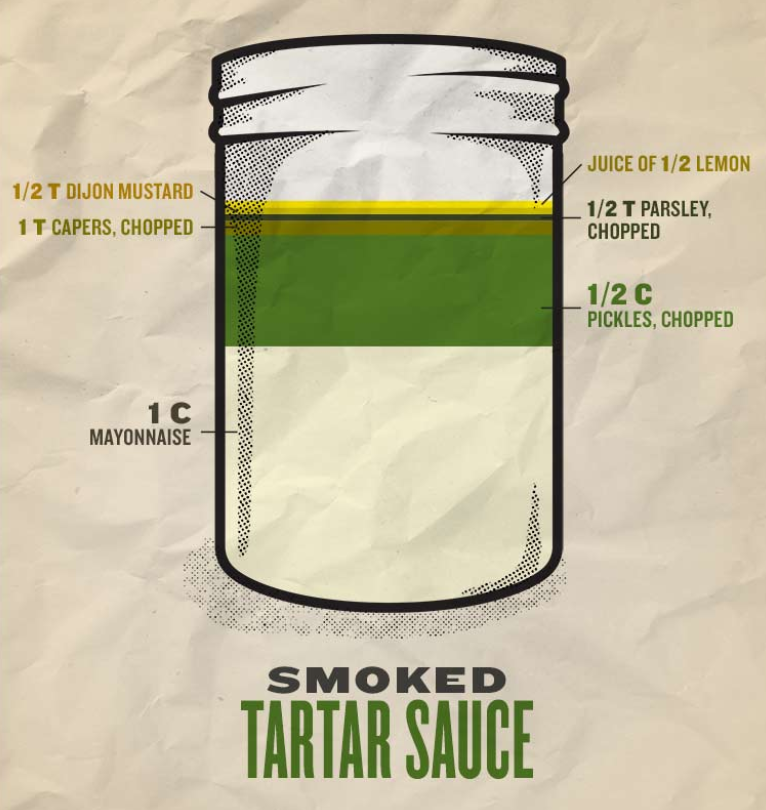 - Traegering some seafood for the 4th? Dip it our smoked tartar sauce to really take it over the top.