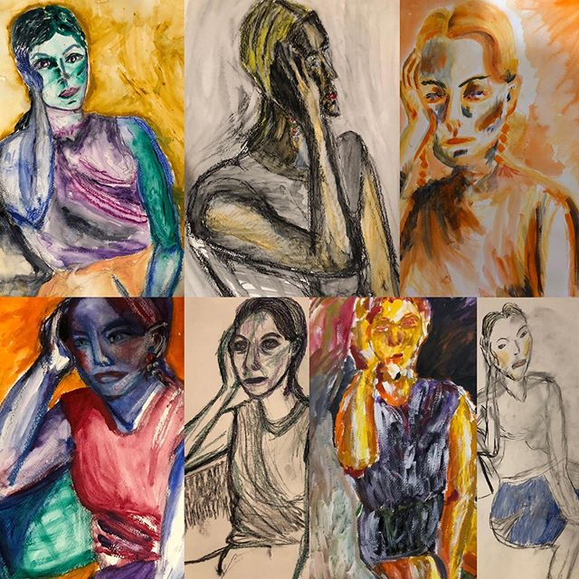 Yes yes, stellar work! By the figure drawing Olympians @hannahdreyfus @paulinisky73 @hannahlouise141 @sylphinthecity @annazb412 @elishevs.m  and @hannahdreyfus's mom, Tova!!