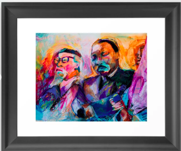 Heschel-King Bright Framed and Matted -