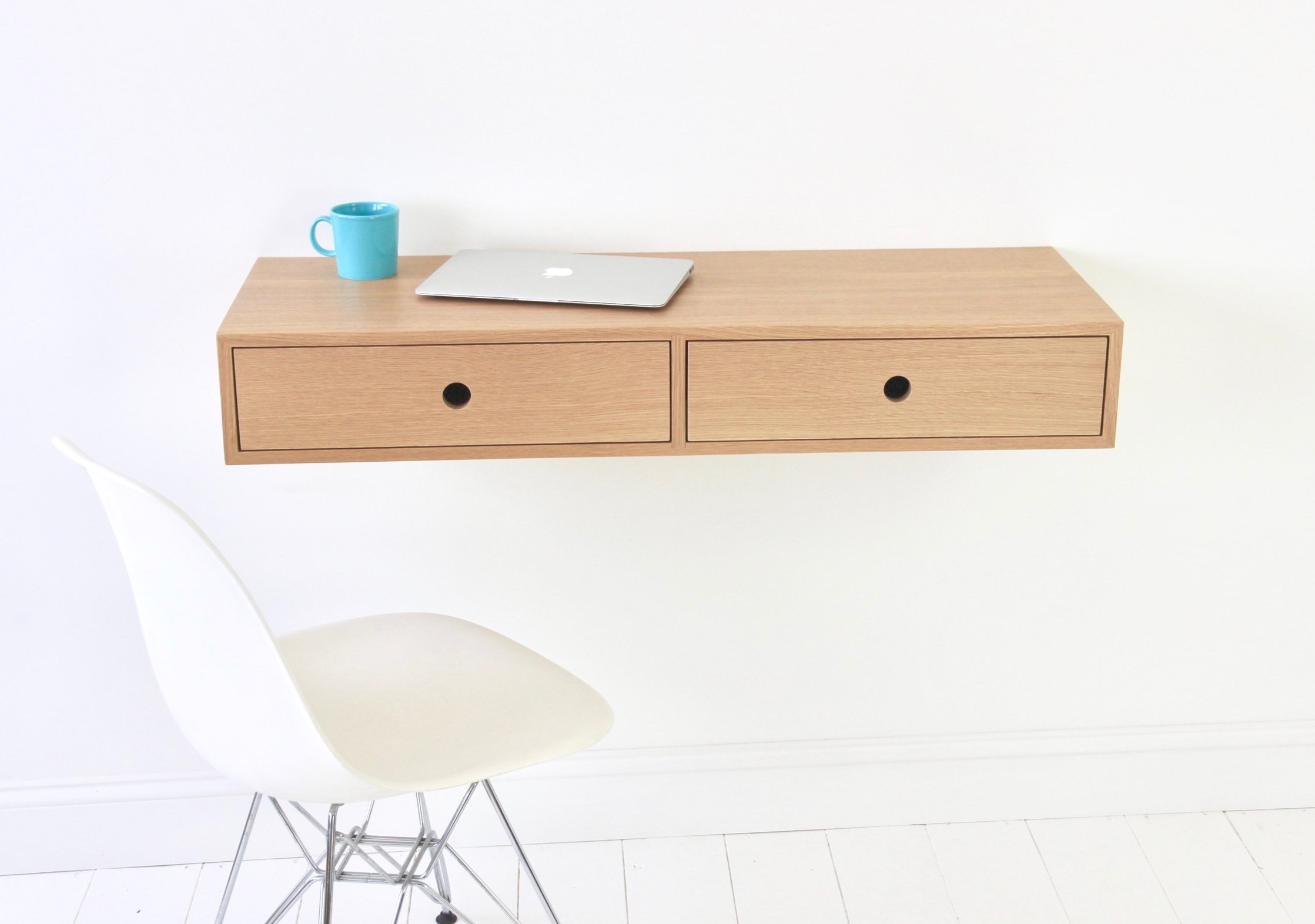walnut floating desk 5wjnl