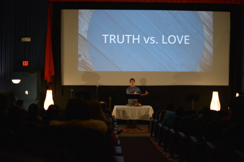 we let the words of john 8 challenge our tendency to pit truth against love. in jesus, truth and love come together.