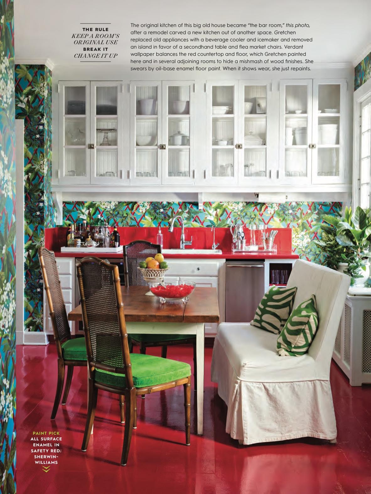 Gretchen Bond's home featured in  BHG