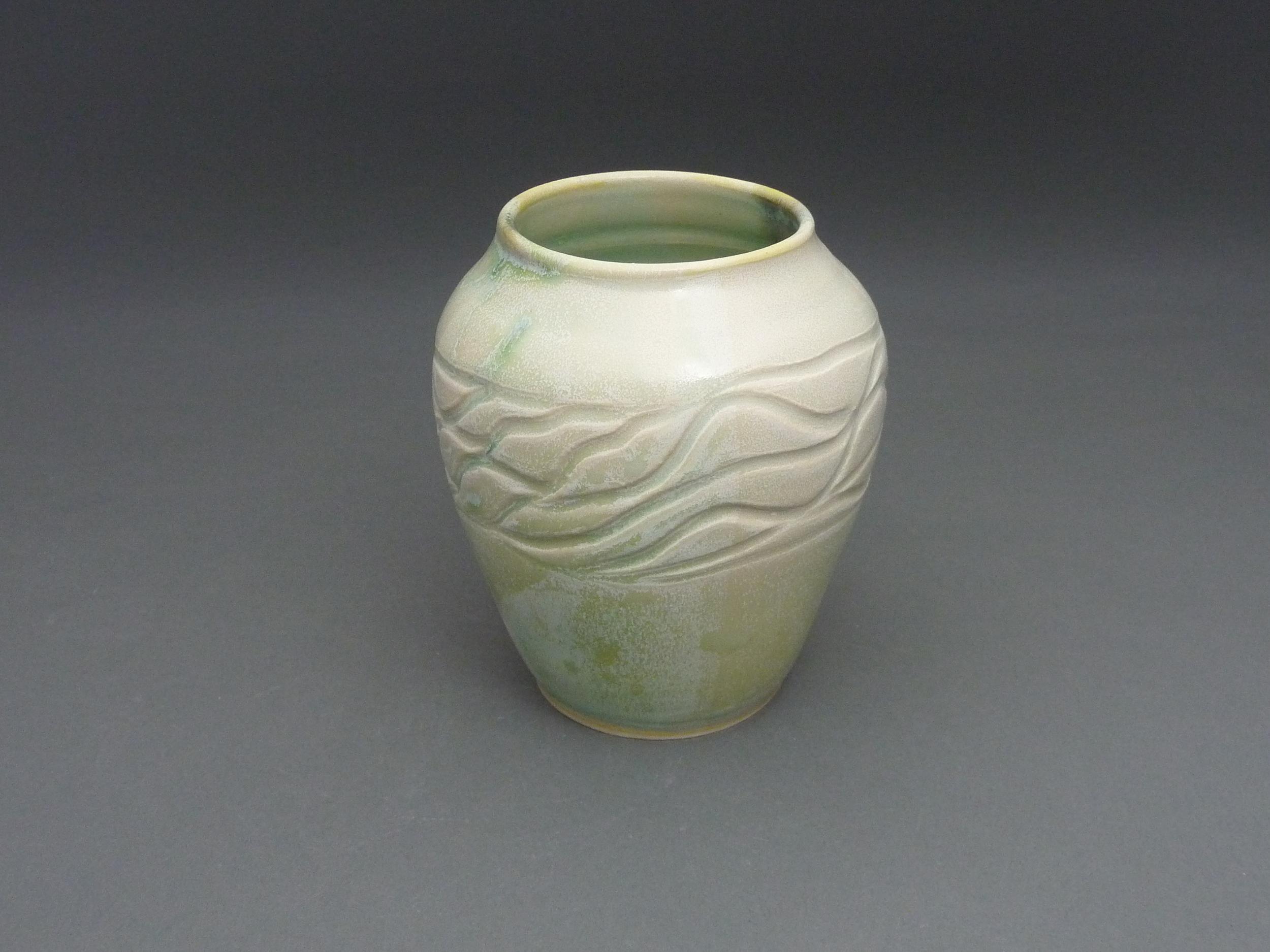Green Wave Vase
