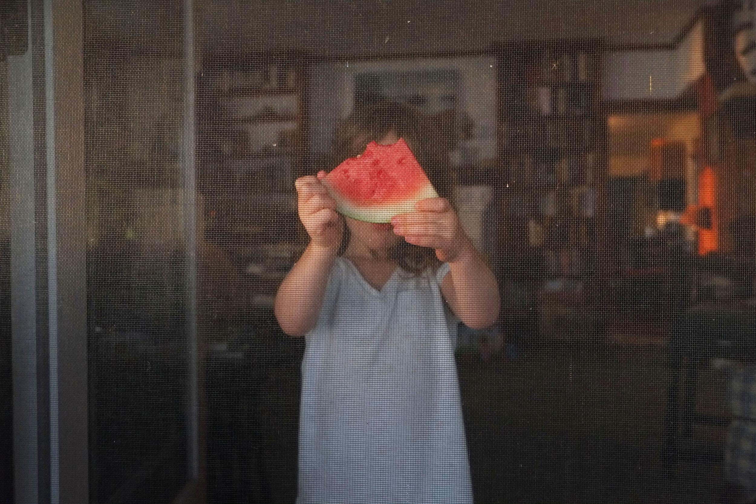 Watermelon at Sunset, Davis Island, ME