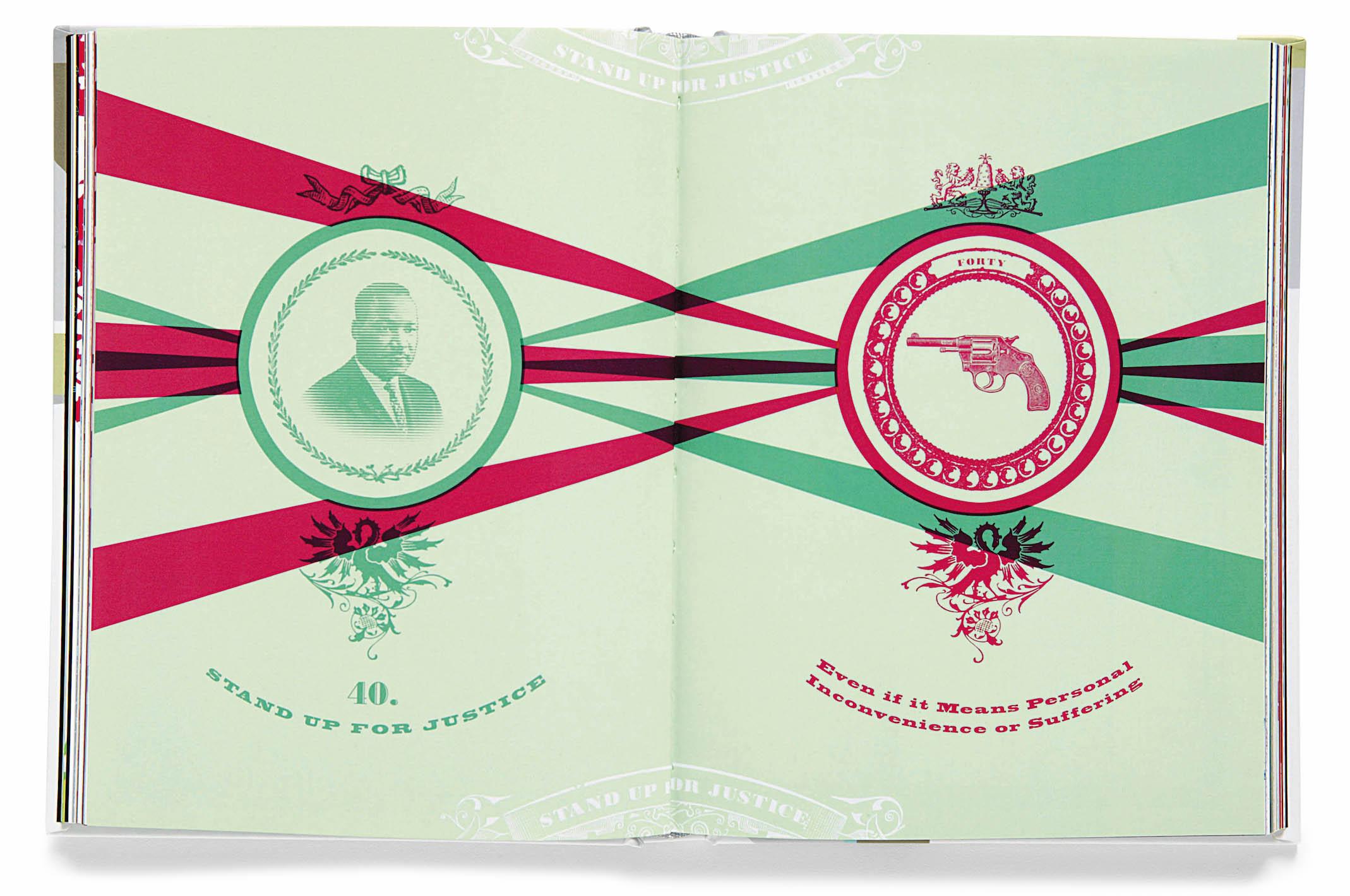 Peace: 100 Ideas , 2004.ARTWORK BY JOSHUA CHEN, MAX SPECTOR AND JENNIFER TOLOZ.