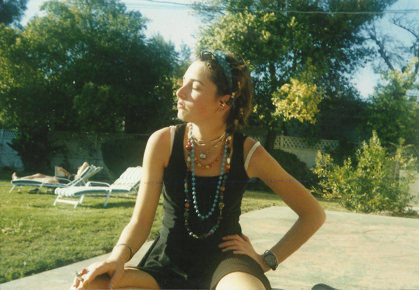 Chiara as a teenager in Los Angeles.