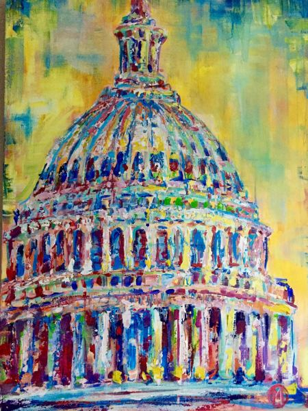 Yellow Sunset Pop Capitol