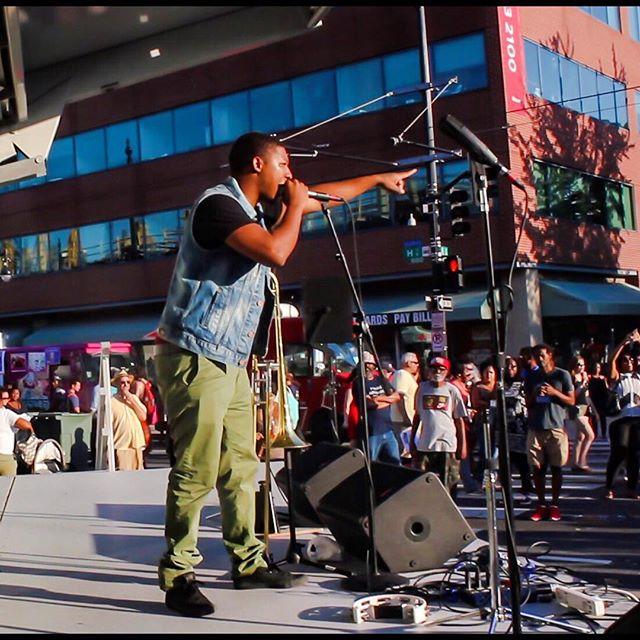 The homie @tonepmusic rocking with us yesterday!  #majorleaguelifestyle #spreadloveband #hstfestival #hst #tonep