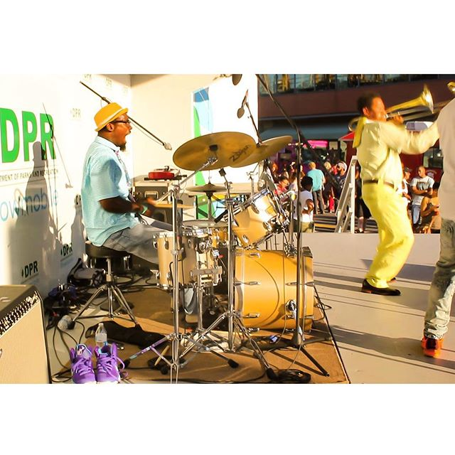 Stixx our drummer going in at the H St Festival performance yesterday! #spreadloveband #hstfestival #hst #majorleaguelifestyle