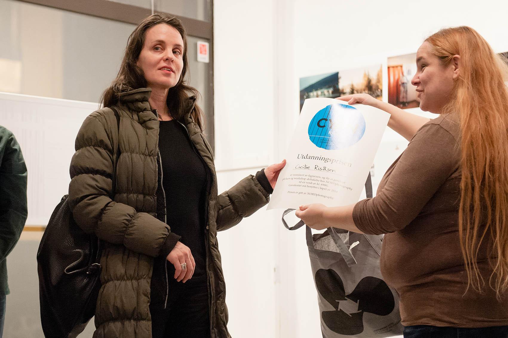 Cicilie Risåsen vant Utdanningspirsen gitt av NORDphotography