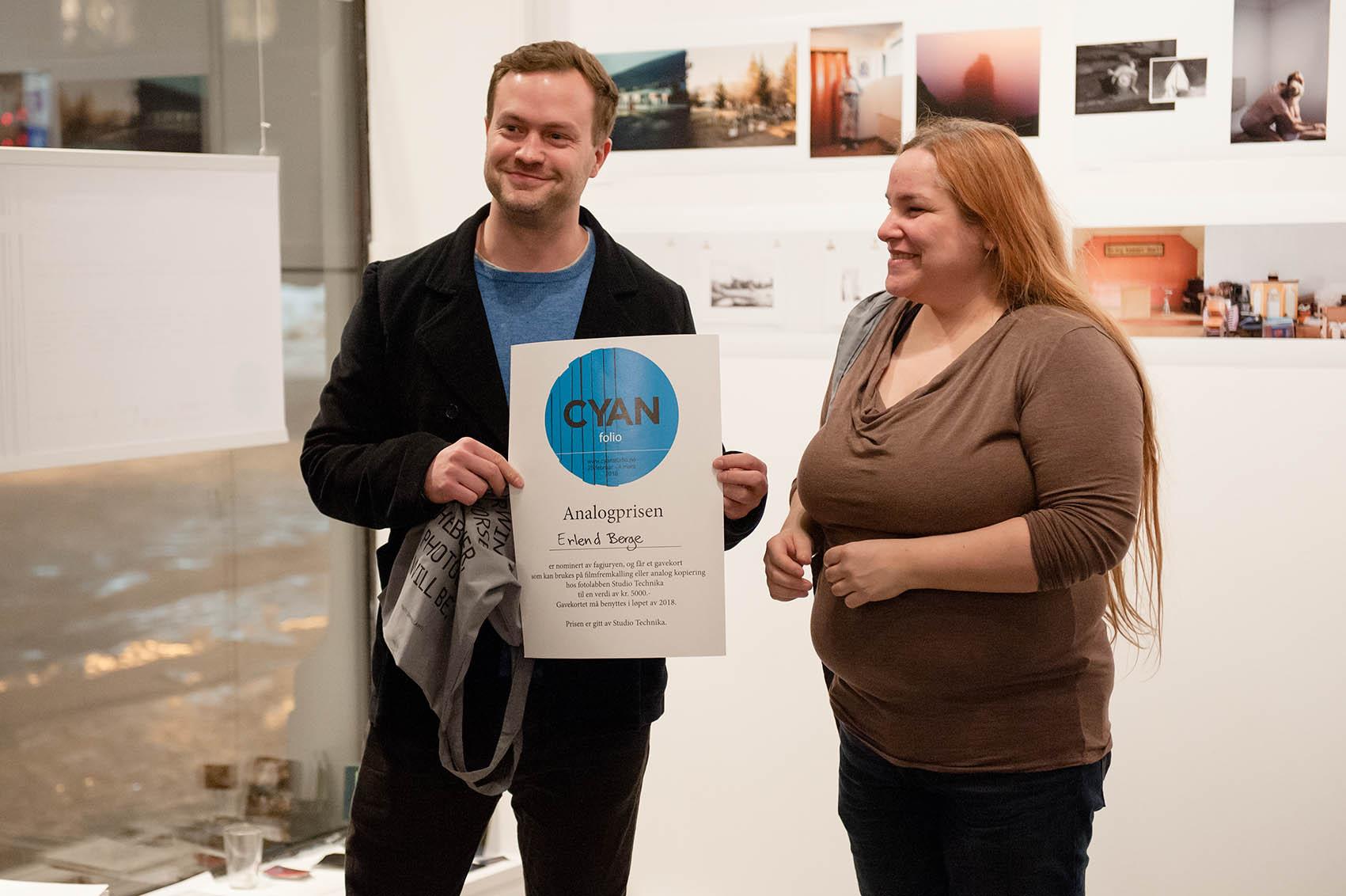 Erlend Berge vant Analogprisen gitt av Studio Technika