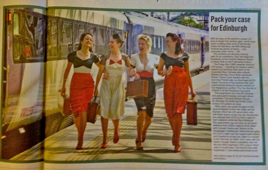 A double page spread in The Sunday Times 2012 advertising The Edinburgh Festival
