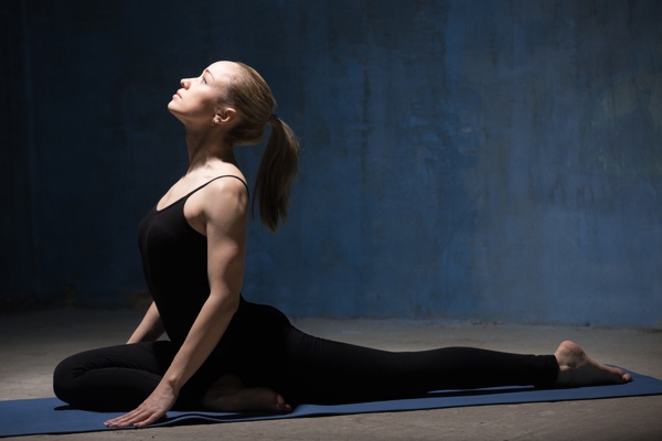 yoga for sciatica - pigeon pose