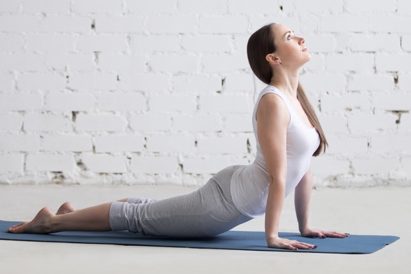 yoga for sciatica - cobra pose