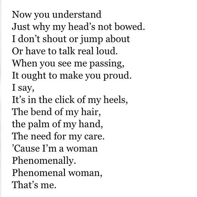 phenomenal woman by dr. maya angelou