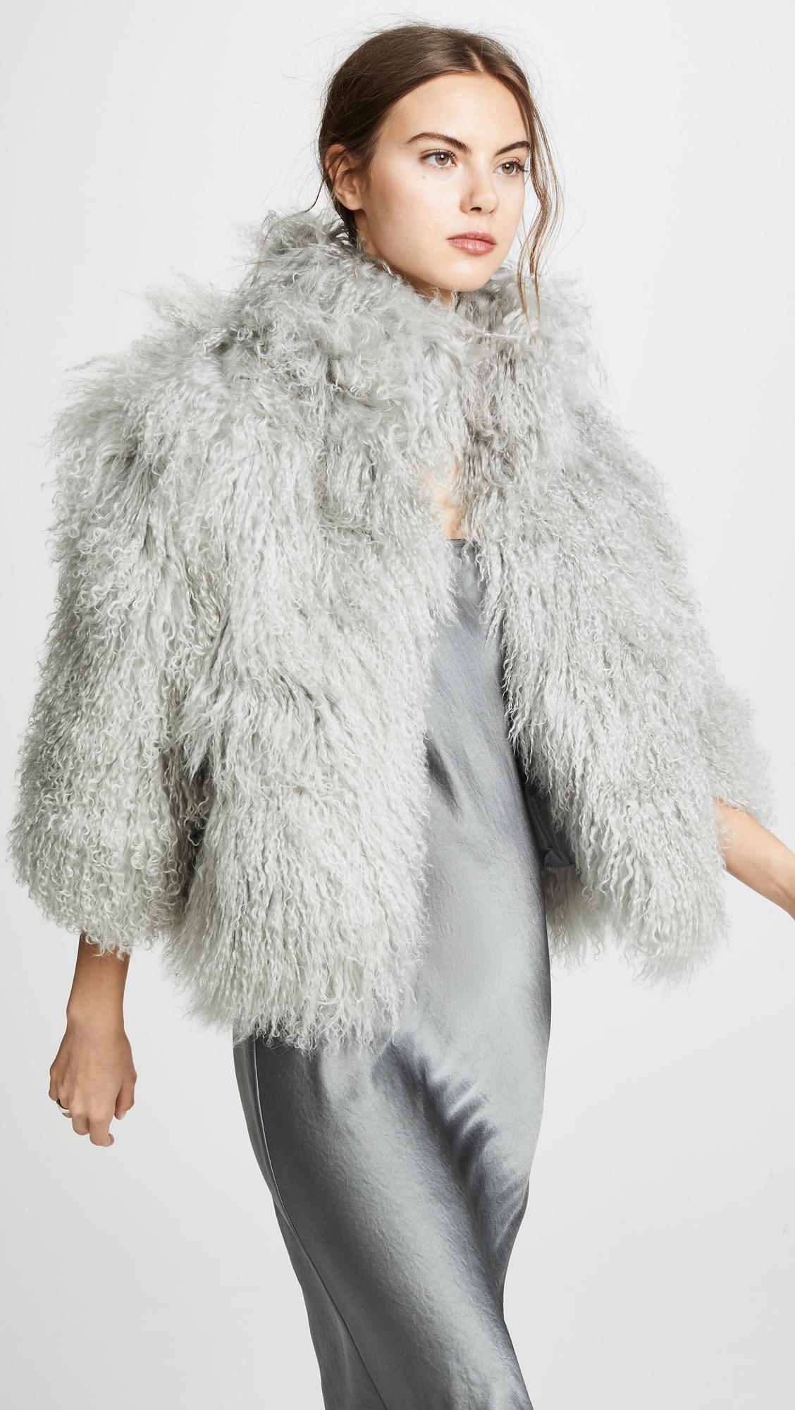 Mongolian Lamb Jacket, $695, Shopbop
