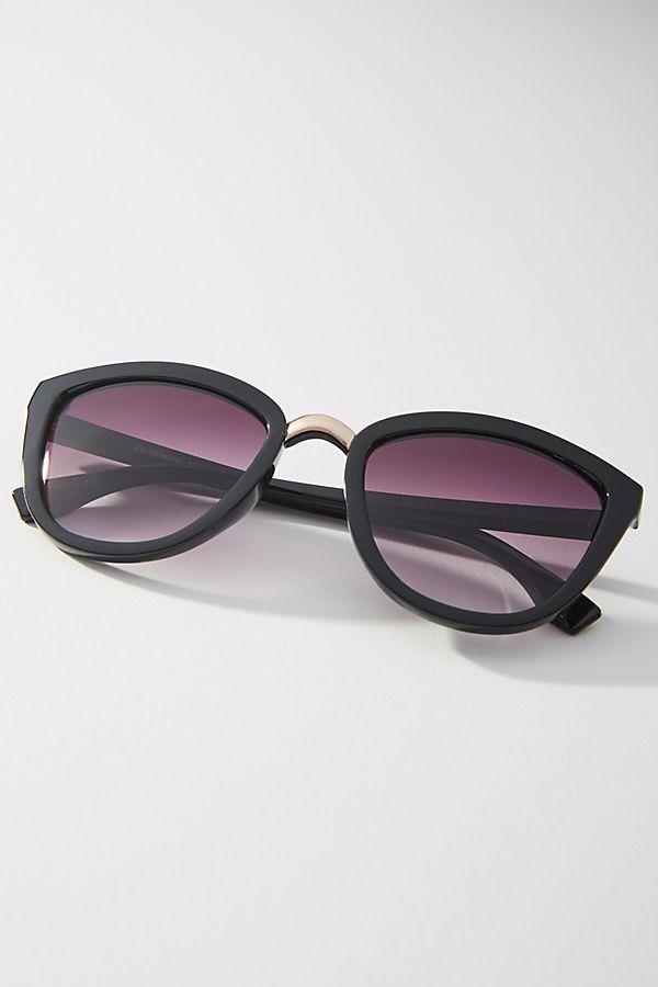 Black Cat-Eye Sunglasses, $38, Anthropologie