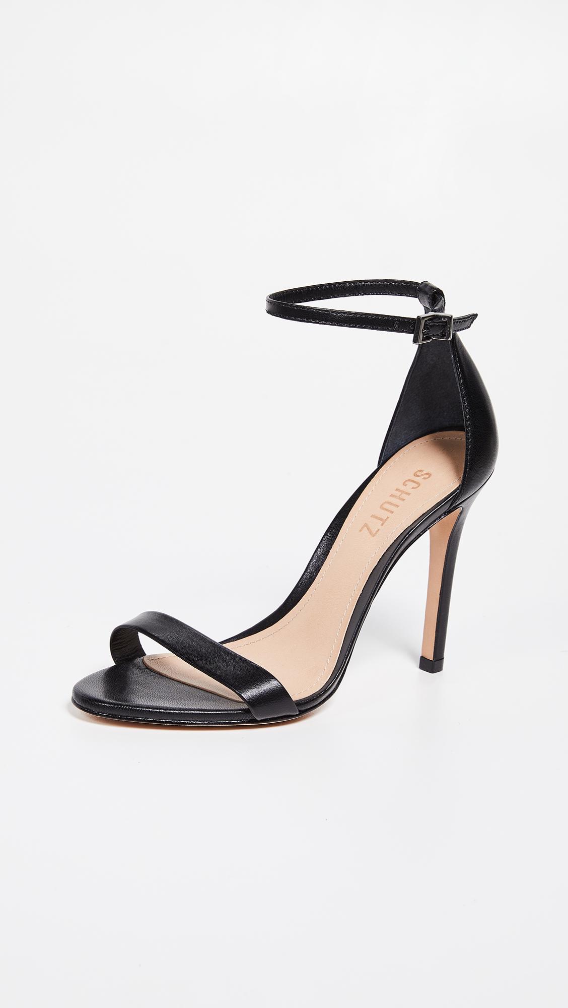 Black Stiletto Sandals, $160, Shopbop