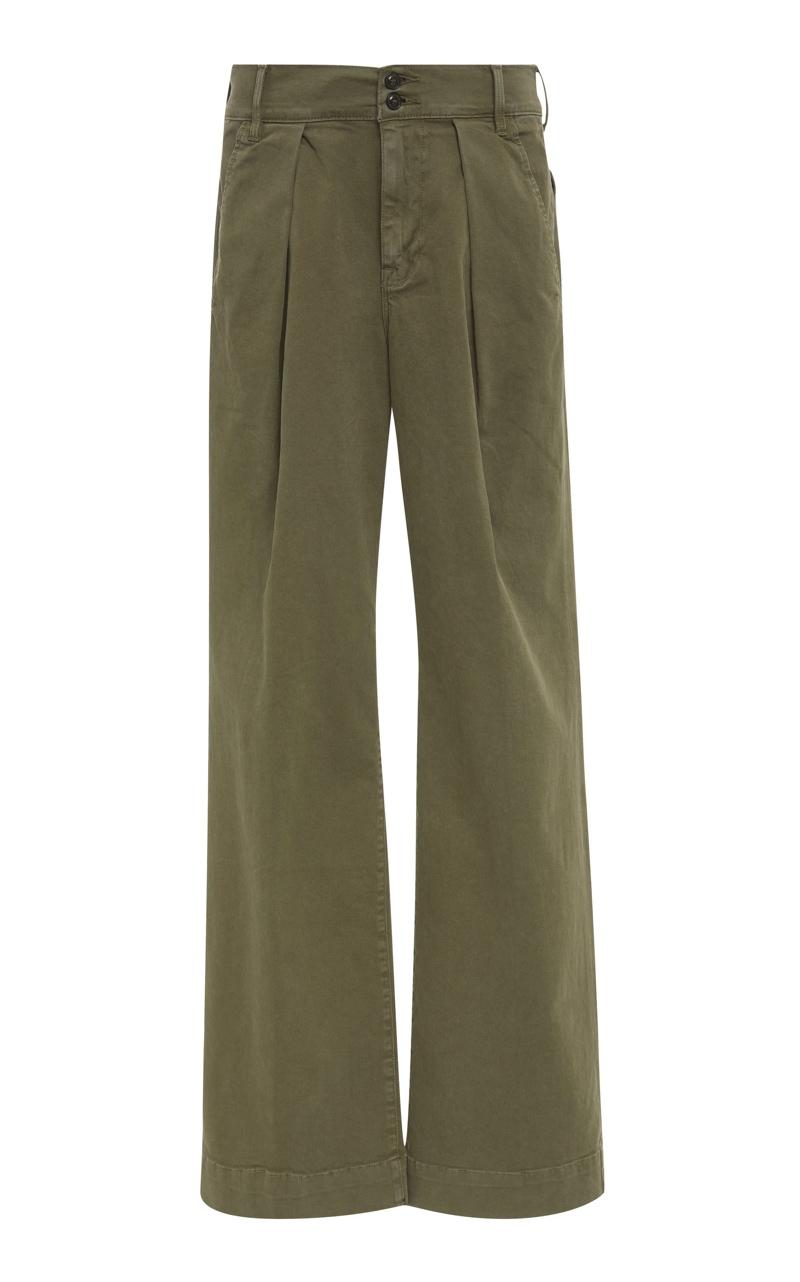 Green Wide Leg Chinos, $100, Moda Operandi