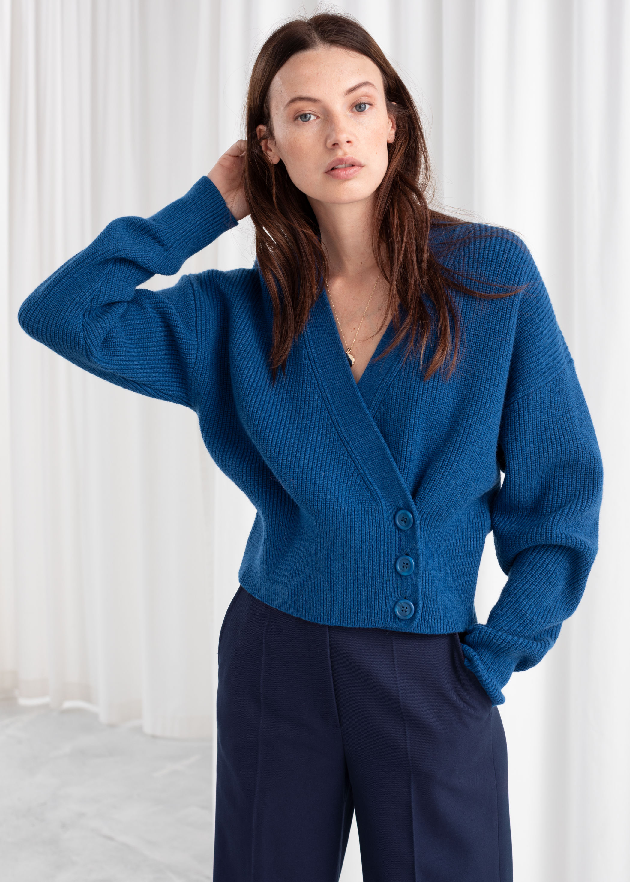 Wool Blend Wrap Cardigan, $89, & Other Stories