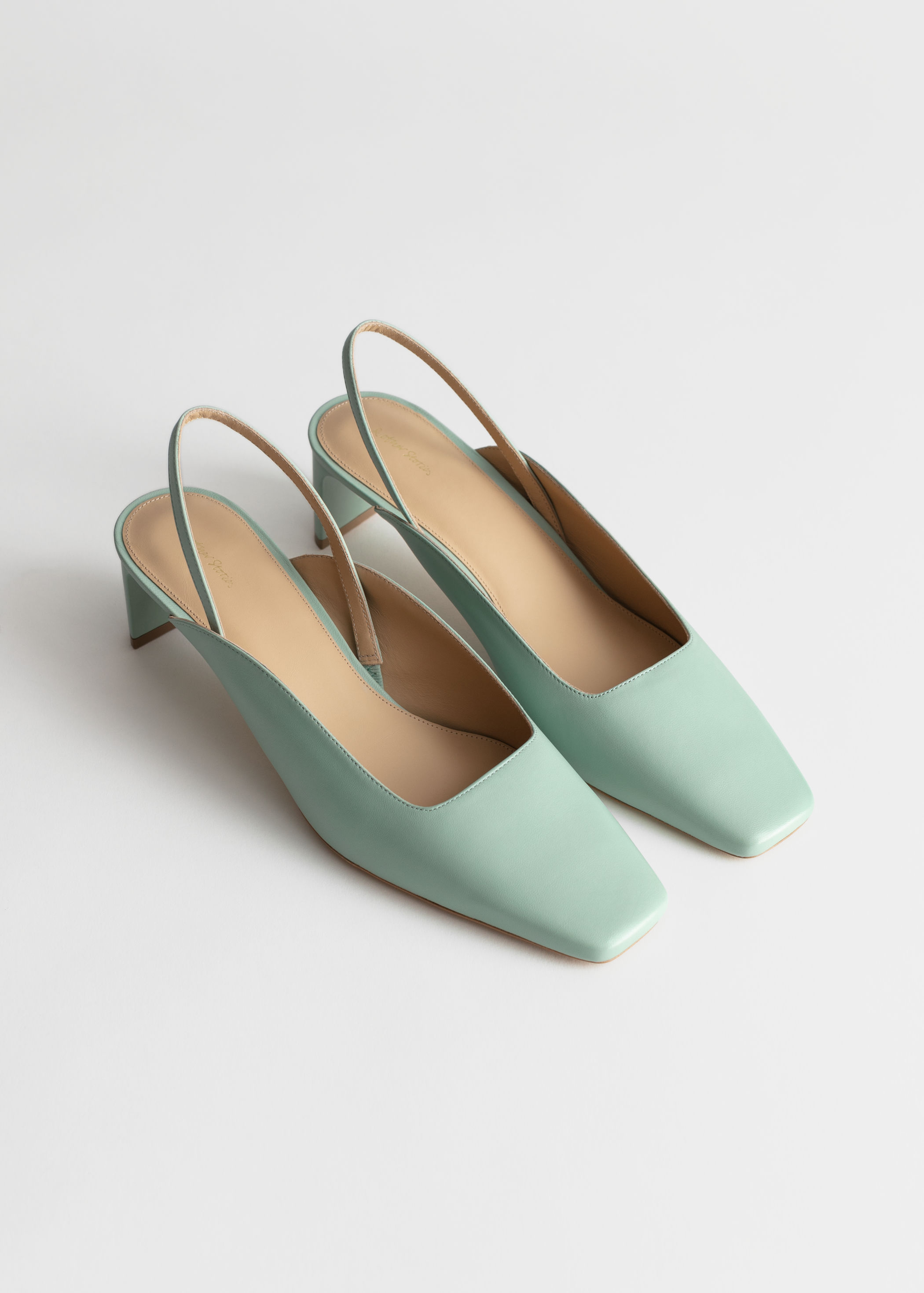 Square Toe Kitten Heel Mules, $129, & Other Stories