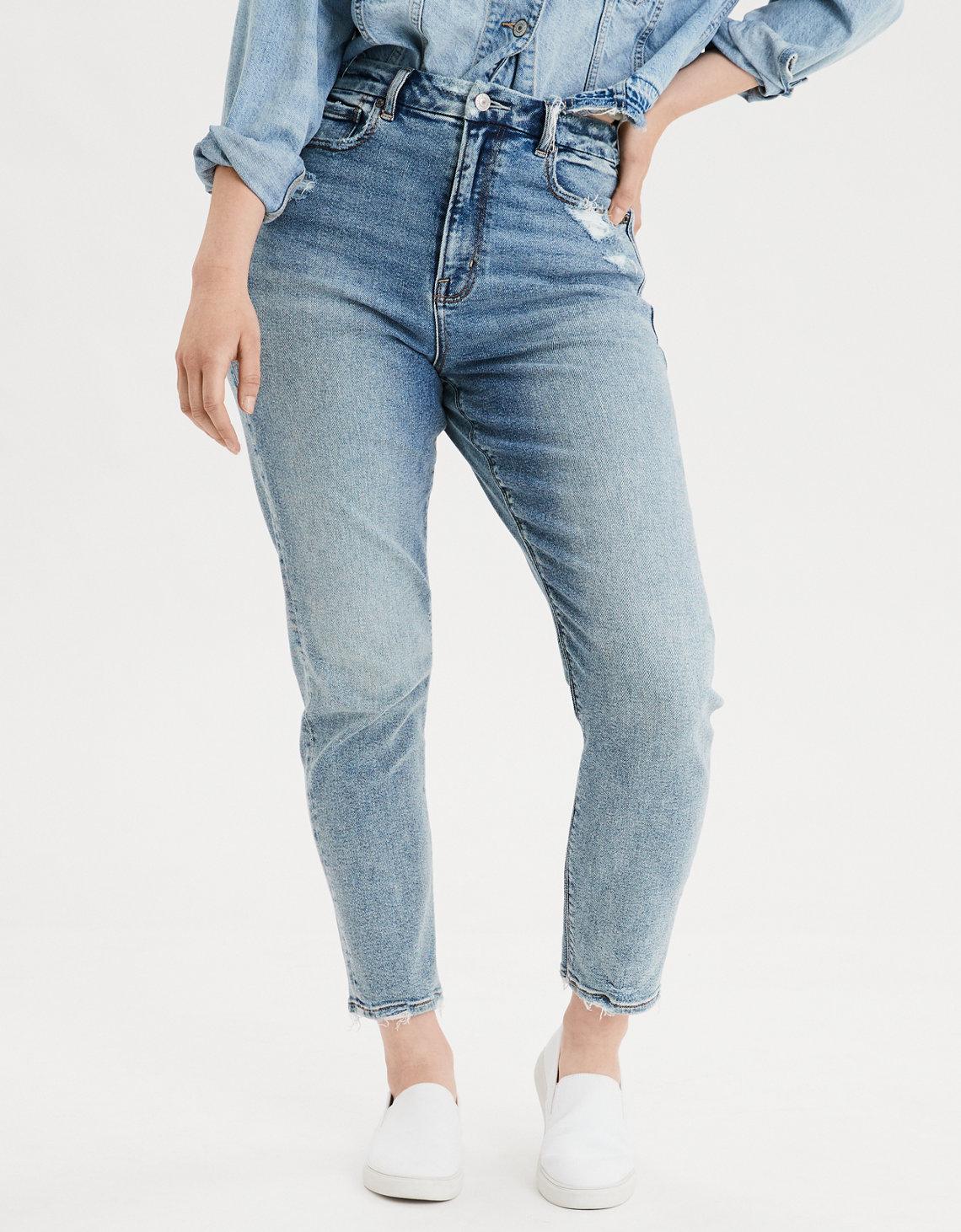 Stretch Curvy Mom Jeans, $50, American Eagle