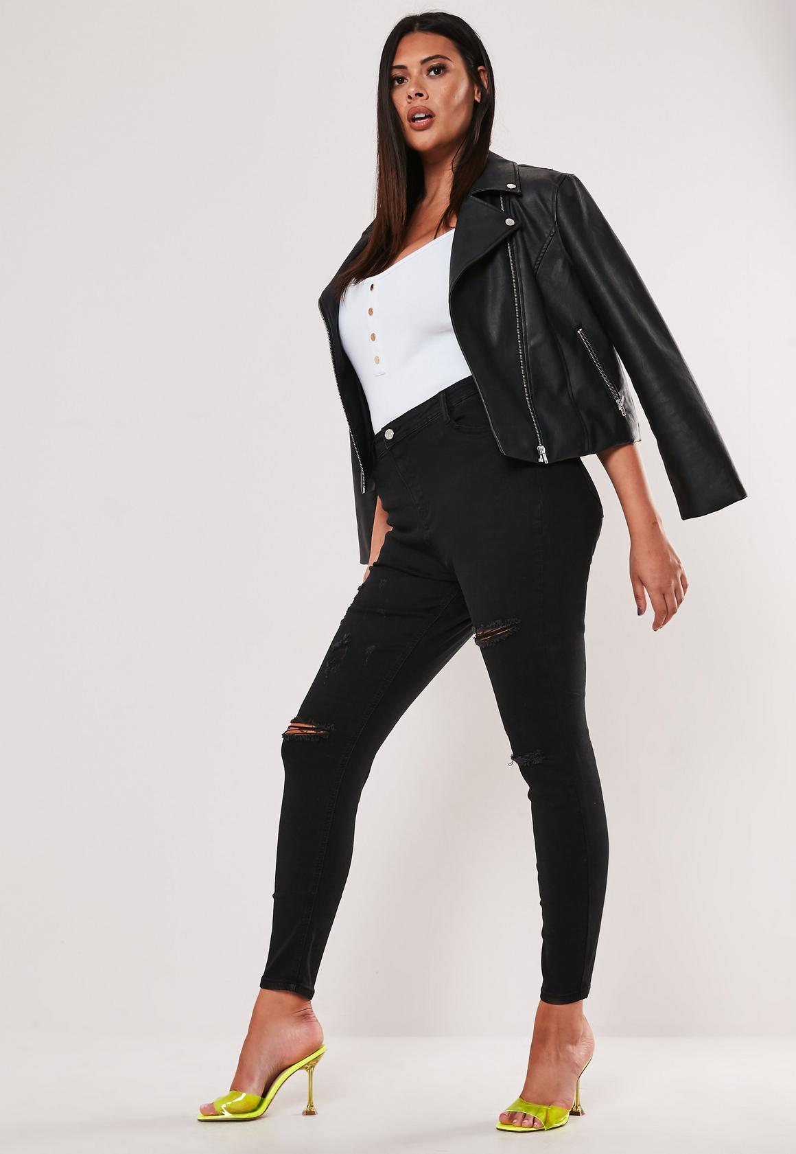 """Big Booty"" High Waist Skinny Jeans, $47, Missguided"