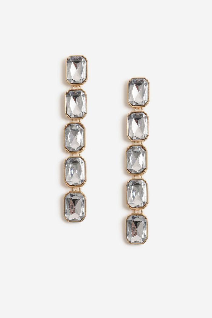 Stone Drop Earrings, $22, Topshop